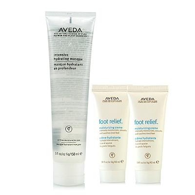 AVEDA 強效保濕面膜150ml+潤足霜40ml*2