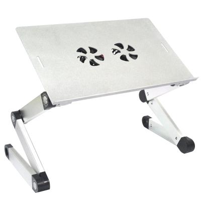 【wepon 】鋁合金雙風扇萬用電腦桌(銀貂)