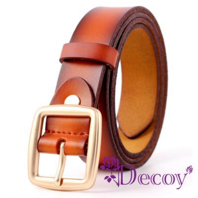 Decoy 簡約中性 雙層真牛皮腰帶 3色可選