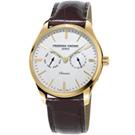 康斯登Classics Quartz 百年經典Day-Date腕錶-40mm/白x咖啡