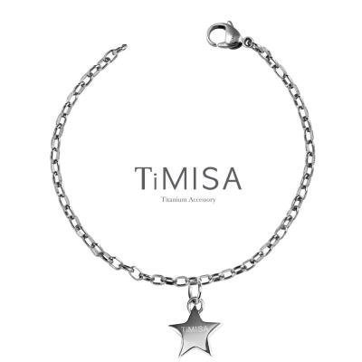 TiMISA《幸運星動感》純鈦腳鍊(S)