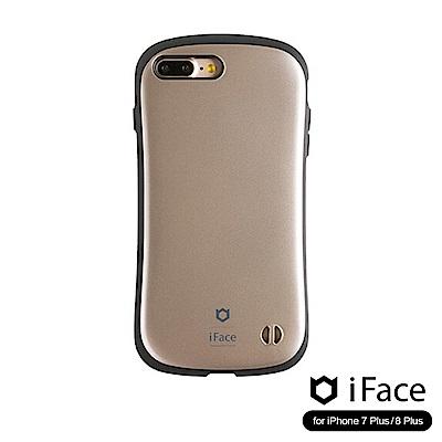iFace iPhone8/8+ 雙素材吸震抗衝擊手機殼(金屬感)-金