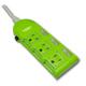 蓋安全 彩色電腦線三開三插((3P15A9尺))橙/紅/綠 OC33309