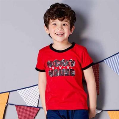 Disney 米奇系列幾何T恤  紅色