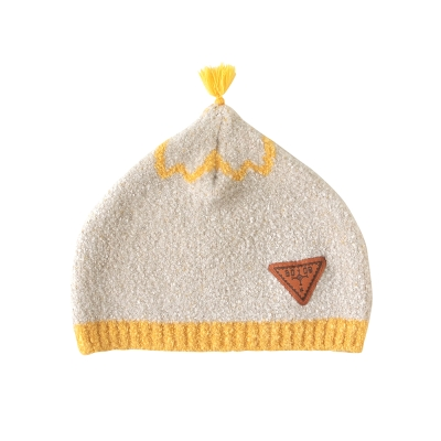 BOBO 棉花糖保暖流蘇帽(米)