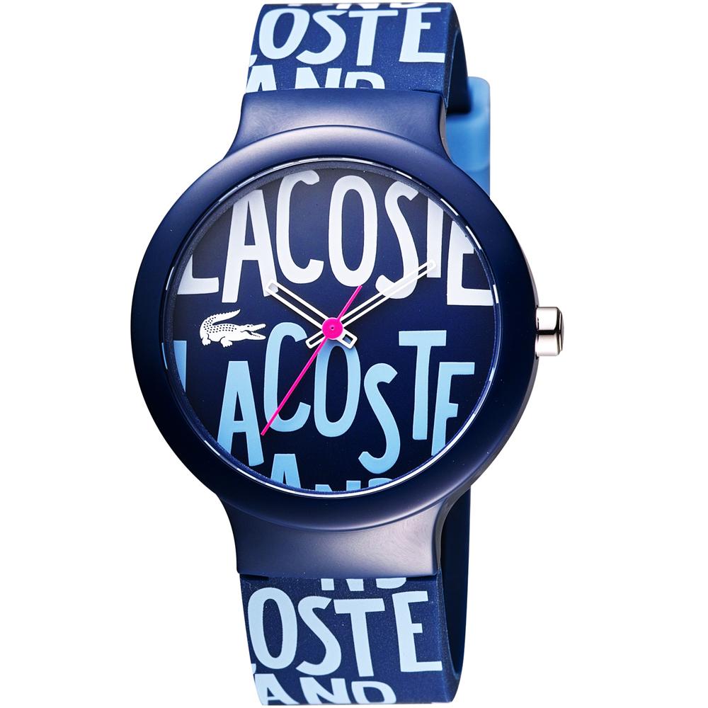 Lacoste 鱷魚 品牌限定LOGO 腕錶-藍/40mm