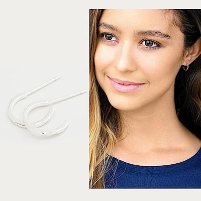 GORJANA 迷你平衡骨 C型圓耳環 銀色波浪紋 Taner Mini Hoops