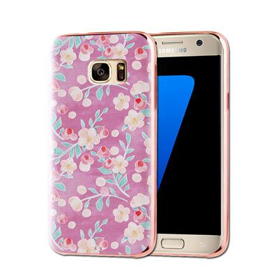 VXTRA Samsung Galaxy S7 edge 電鍍浮雕 彩繪手機殼(...