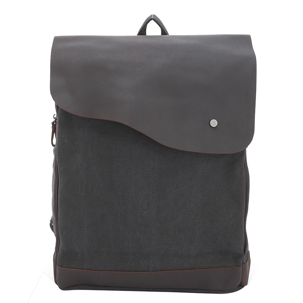 【Vensers】韓潮頂級棉麻包系列~後背包(C1203202深灰)