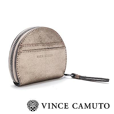 Vince Camuto 圓形鉚釘素面輕巧零錢包-金色