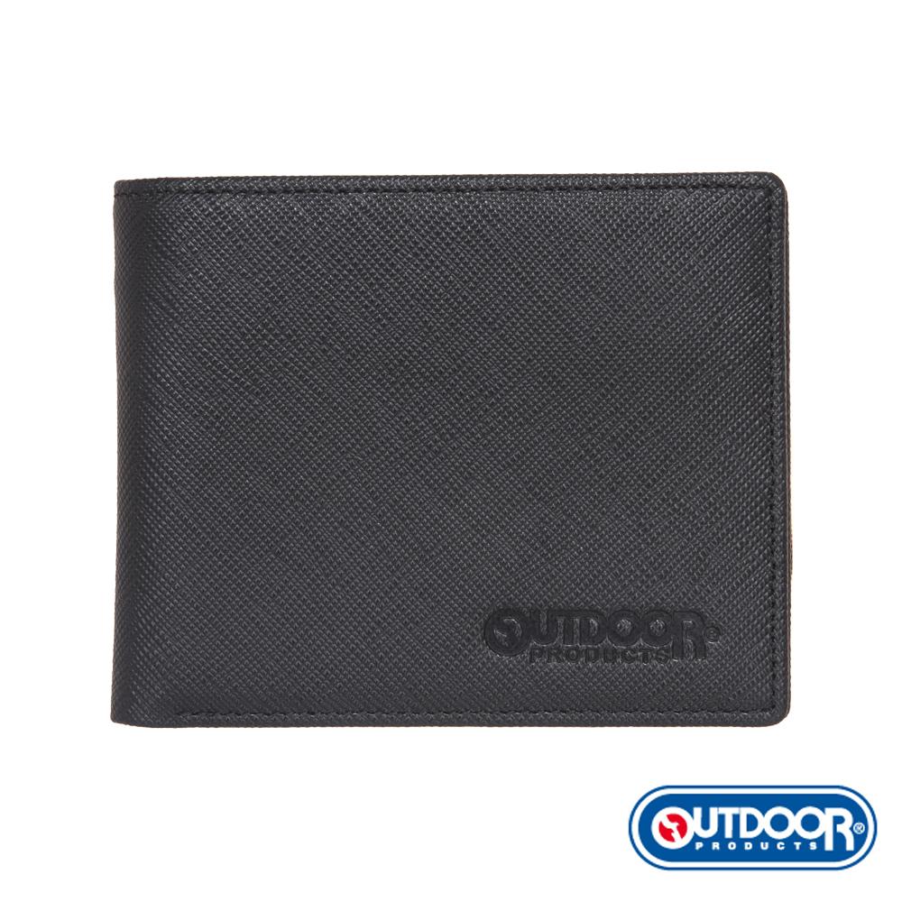 OUTDOOR-TRENDY品味時尚系列-拉鍊短夾-黑-ODS17C01BK