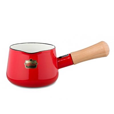 日本Honey Ware琺瑯牛奶鍋12cm紅