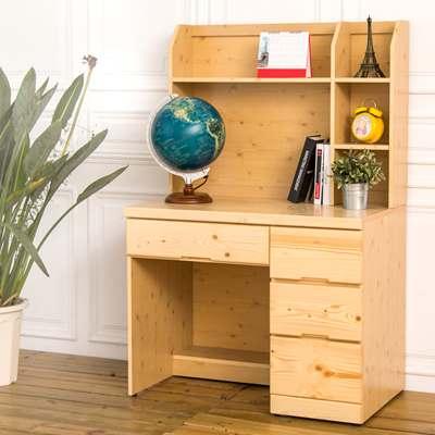 時尚屋 夢野實木3.2尺書桌 寬98x深58x高150cm