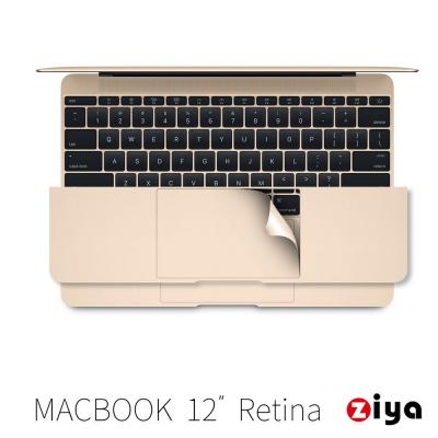 ZIYA Apple Macbook 12吋Retina 手腕貼膜/掌托保護貼 奢華皇金款