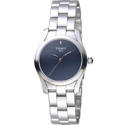 TISSOT天梭 T-Wave 優雅姿態時尚腕錶-黑/30mm