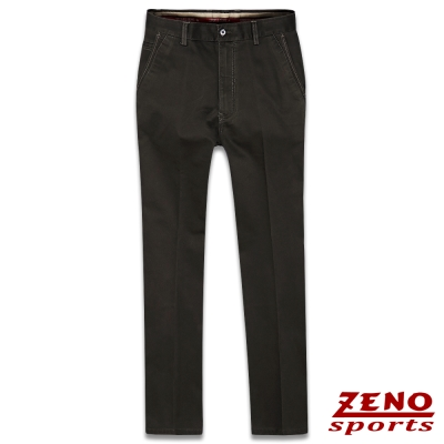 ZENO 超彈性雙色織線無摺休閒褲‧黑褐32~42