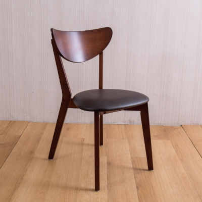 AS-安娜全實木餐椅-胡桃色-四入組-45X50X80cm