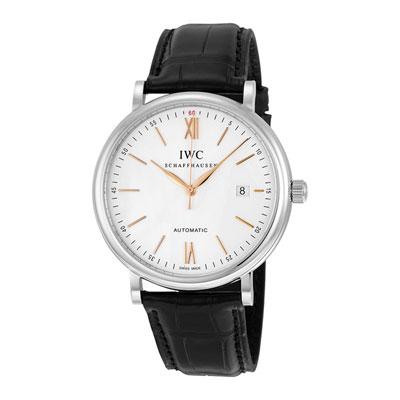 IWC 萬國錶 IW356517 柏濤菲諾 白面金針腕錶-40mm