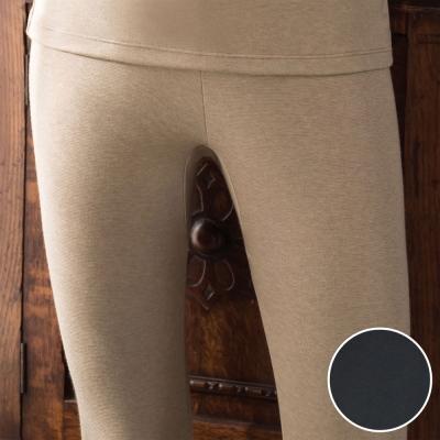 華歌爾 NEW EKS升級發熱 M-LL 九分保暖褲(灰黑)-保暖-