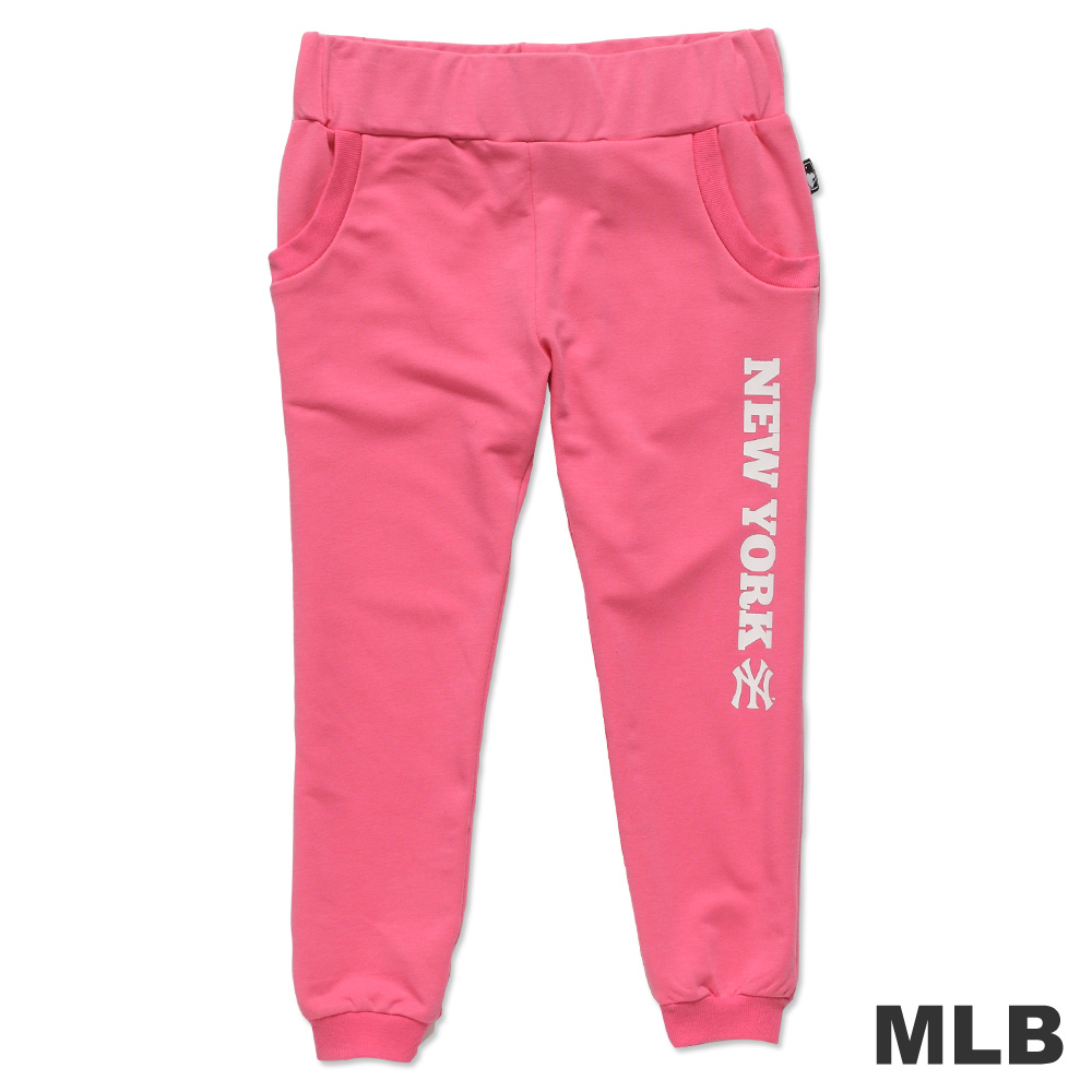 MLB-紐約洋基隊印花休閒七分褲-深粉紅(女)