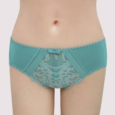 曼黛瑪璉-雙弧絲蛋白  中腰三角棉褲(海洋藍)