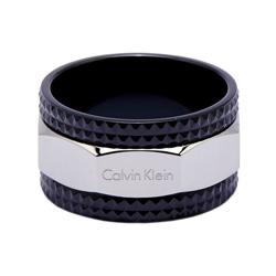 CK Calvin Klein 酷黑x銀色款自我個性風戒指