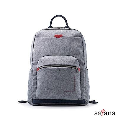 satana - Fresh 輕職人電腦後背包 - 麻花灰
