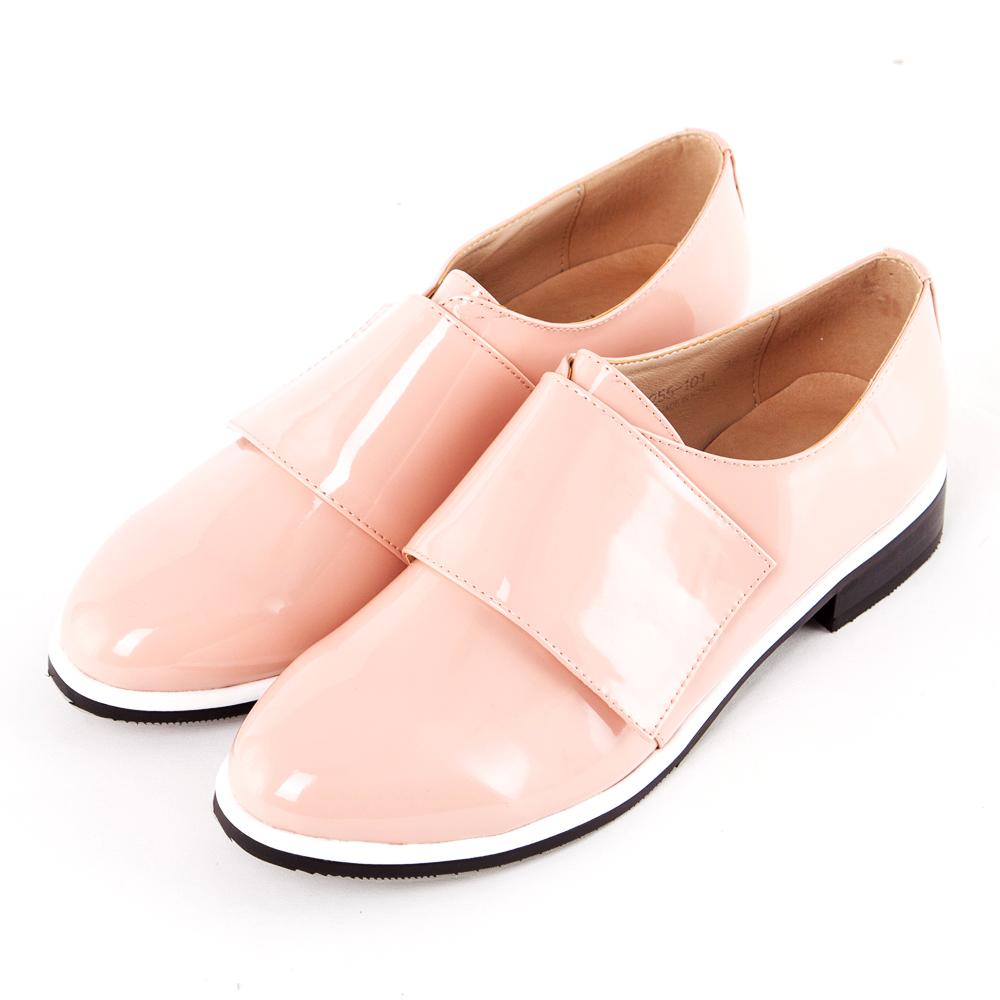 ALLEGREZZA‧LADY系列‧簡約時尚孟克鞋 粉