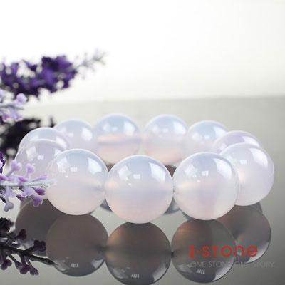 石頭記 頂溫潤冰透20mm紫玉髓手鍊