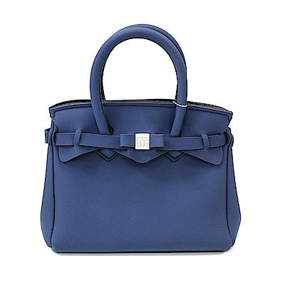 SAVE MY BAG 義大利品牌 PETITE系列 鯨藍超輕量手提托特包