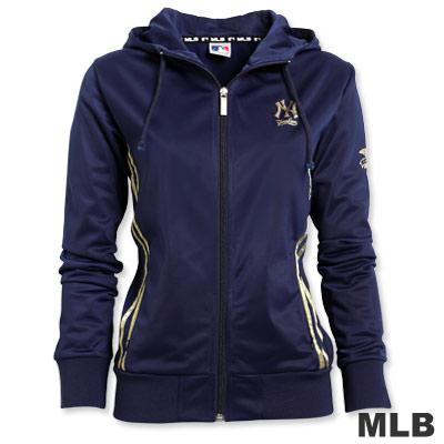 MLB-紐約洋基隊金條運動外套-深藍(女)