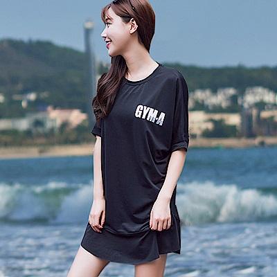 Biki比基尼妮泳衣   長款下蝶縮泳衣罩衫可內搭泳衣(單罩衫)