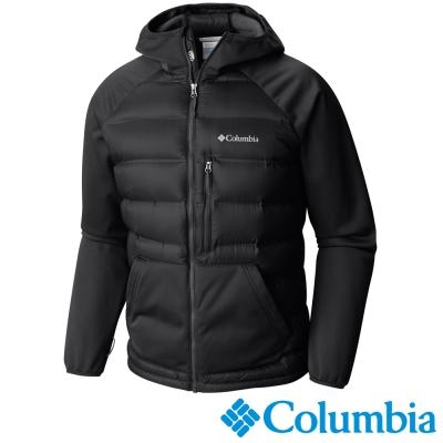 Columbia哥倫比亞 男款-無縫700羽絨連帽外套-黑色 UWE00090BK