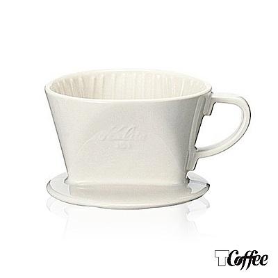 TCoffee Kalita 101白色陶製三孔濾杯