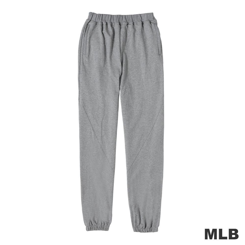 MLB-紐約洋基隊縮口電繡棉質長褲-麻灰色(男)