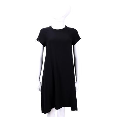 Max Mara-'S Max Mara 黑色圓領素面短袖洋裝