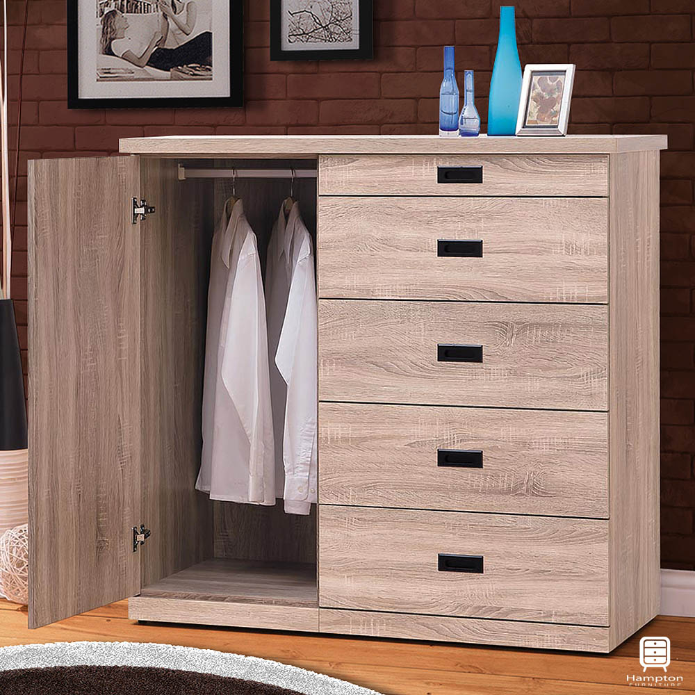 漢妮Hampton尤金系列4尺衣斗櫃-121x51.5x119cm