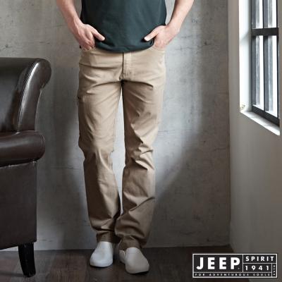 JEEP 時尚設計工作褲 -卡其色