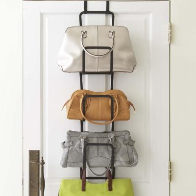 【YAMAZAKI】創意包包收納架-黑★門後掛架/門後掛勾/掛衣架/包包架