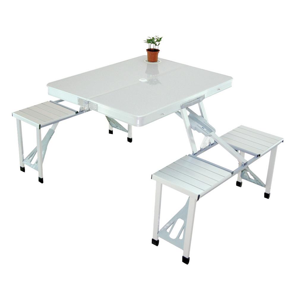 LIFECODE 行動派 鋁合金折疊桌椅/休閒桌椅/烤肉野餐桌