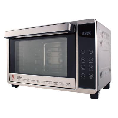 晶工牌32L微電腦雙溫控不鏽鋼旋風烤箱-JK-8300