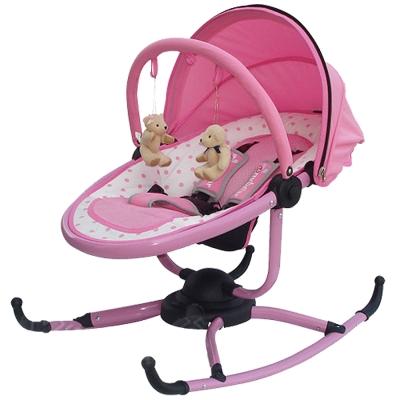 TONYBEAR 嬰兒旋轉式搖椅-粉色