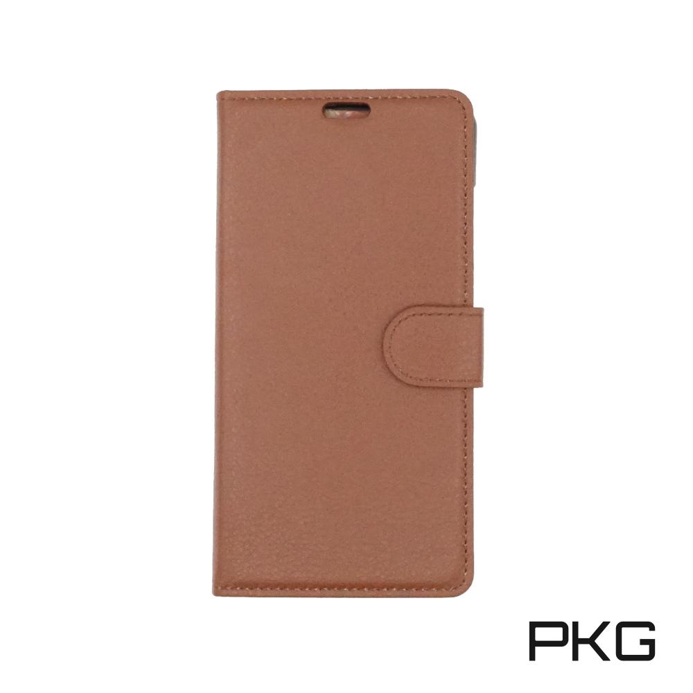 PKG 小米Mix2 側翻式皮套-精緻系列-咖啡棕