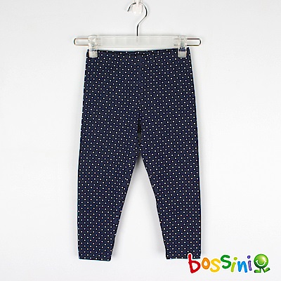bossini女童-印花針織貼身褲04海軍藍