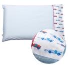 奇哥 ClevaMama 防扁頭嬰兒枕-專用枕套1入(藍色小車)