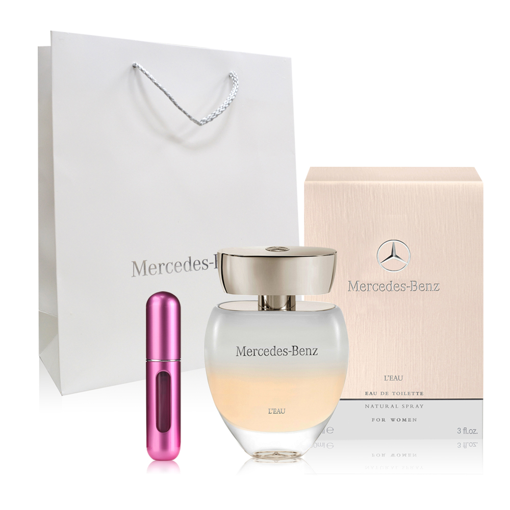 Mercedes Ben 賓士白色浪漫女香 30ml+補充瓶+原廠紙袋(原價1980)