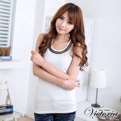 Victoria 宮廷風金屬裝飾背心-女-白