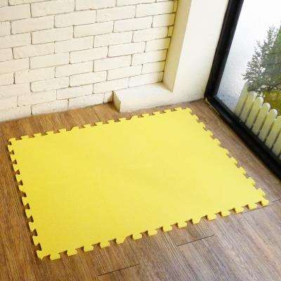 【新生活家】EVA素面巧拼地墊32x32x1cm-黃色 8入