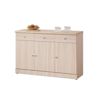 Boden-華爾特4尺石面碗盤收納餐櫃(下座)-121x43x82cm