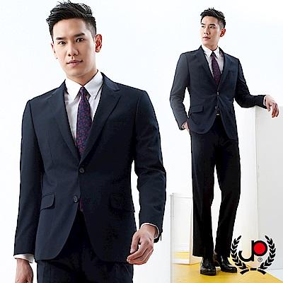 極品西服 經典紳士仿毛條紋西裝外套_深藍色(AS736-3G)